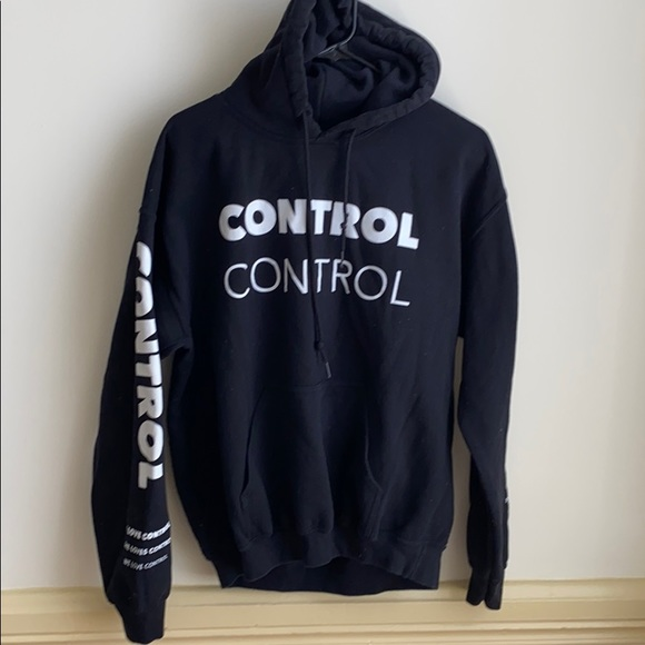 Tops Camila Cabello She Loves Control Hoodie Black M Poshmark